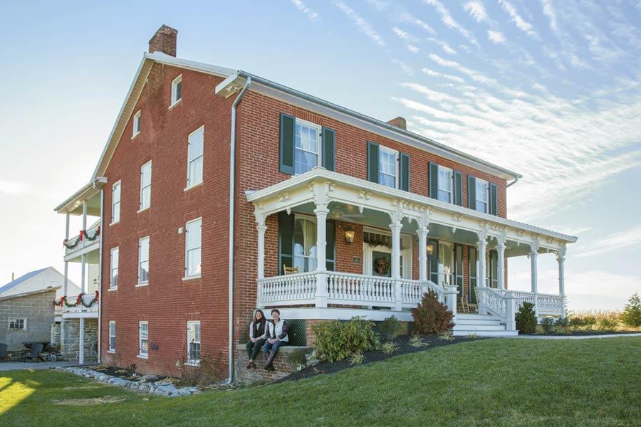 Restoration of Elmwood Farm, a Williamsport Maryland B&B